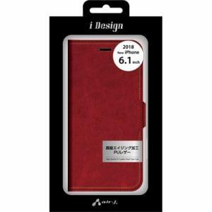エアージェイ AC-P18M-PB RD 手帳型ケース   レッド