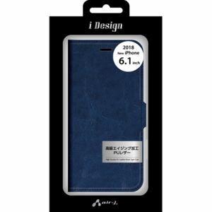 エアージェイ AC-P18M-PB NV 手帳型ケース   ネイビー