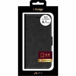 エアージェイ AC-P18M-LBT BK 手帳型ケース   ブラック