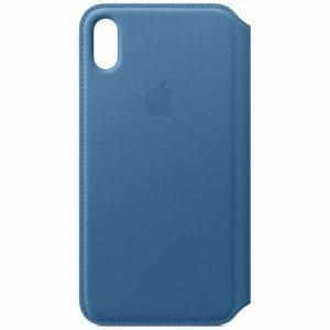 アップル(Apple) MRX52FE/A iPhone XS Max レザーフォリオ ケープコッドブルー