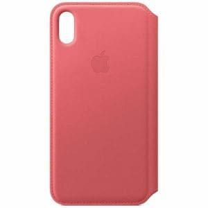 アップル(Apple) MRX62FE/A iPhone XS Max レザーフォリオ ピオニーピンク