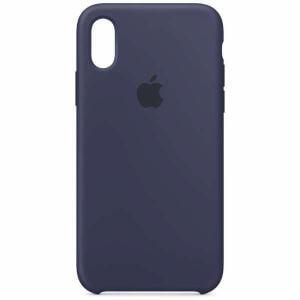 アップル(Apple) MRW92FE/A 【純正】iPhone XS シリコーンケース ミッドナイトブルー