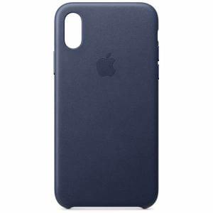 アップル(Apple) MRWN2FE/A 【純正】iPhone XS レザーケース ミッドナイトブルー