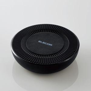 エレコム W-QA06BK 冷却ファン搭載Qi規格対応ワイヤレス充電器(7.5W対応) ブラック