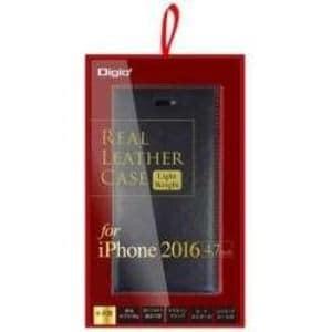 ナカバヤシ SMC-IP1606BKR iPhone 7用 ケース 本革 軽量 ブラック×レッド