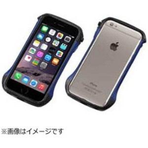 DEFF DCB-IP6SA6CABU iPhone 6s/6用 CLEAVE Carbon & Aluminum Bumper Hybrid ブルー