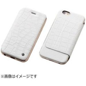 DEFF DCS-IP6SAGLFRGWH iPhone 6s/6用 Hybrid Case UNIO Leather クロコ型押ホワイト+ローズゴールド