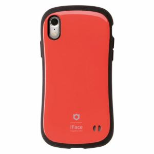 Hamee iFace FC Standard RD iPhone XR用ケース 耐衝撃 レッド