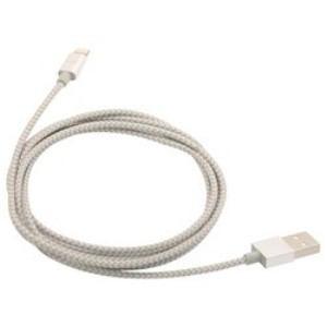 FSC CK-LA01SV iPad / iPad mini / iPhone / iPod対応 Lightning ⇔ USBケーブル 充電・転送 2.4A (1.5m・シルバー) MFi認証