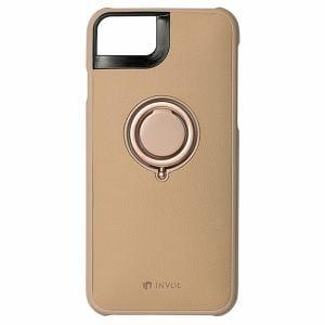 Softbank Selection INVOL SB-IA15-CBRG/CA キャメルカラー INVOL Finger Ring Case iPhone 7用
