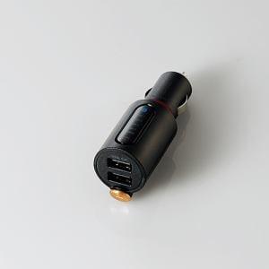 エレコム LAT-FMBTB04BK Bluetooth(R)FMトランスミッター(3.4A/2ポート/重低音) ブラック