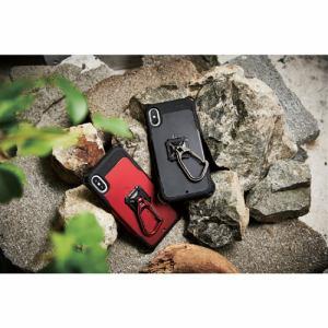 エレコム P-STRKRBK スマートフォン用ストラップ フィンガーリング カラビナ付 ブラック