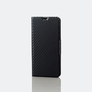 エレコム PM-SH01LPLFUCB ソフトレザーカバー/薄型/磁石付 カーボン調ブラック