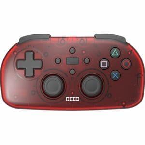 ホリ PS4-134 ワイヤレスコントローラーライト PS4 クリアレッド