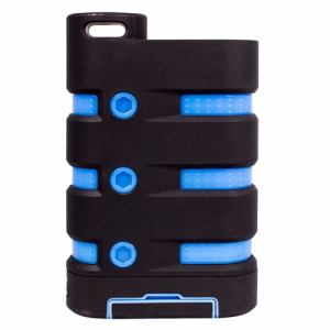 オウルテック OWL-LIBP7801-BKBL PSE対応 7650mAh 防水モバイルバッテリー ブラック × ブルー
