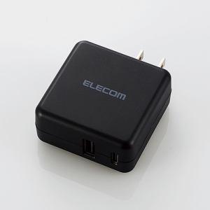 エレコム MPA-ACC07BK AC充電器(3.6A/Type-C+USBポート) ブラック