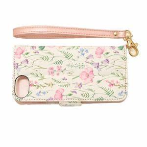 ラスタバナナ 4640IP747BO iPhone8/7/6s/6 ケース/カバー 手帳型 ハンドストラップ付き 花柄 ピンク