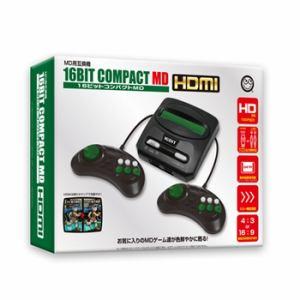 【MD用互換機】16ビットコンパクトMD HDMI CC-16CMH-BK