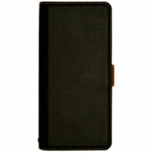 ラスタバナナ 4495AQOR2CBO 薄型手帳ケース サイドマグネット AQUOS R2 compact  ブラック×ダークブラウン
