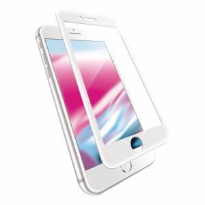 エレコム PM-A17MFLGGCRWH iPhone8 フルカバーガラス/セラミックコート
