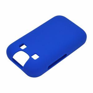 ラスタバナナ 4664KYF40SI mamorino5 KYF40 ケース/カバー ソフト シリコン ブルー