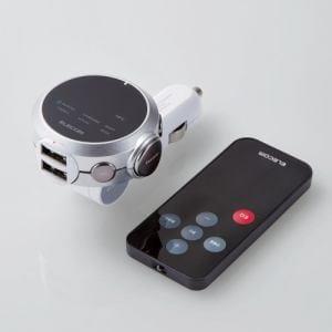 エレコム LAT-FMBTB05RSV  Bluetooth(R)FMトランスミッター(イコライザー/リモコン)