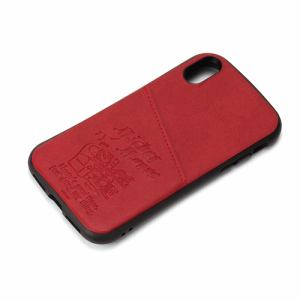 PGA PG-DCS680MKY iPhone Xs/X用 タフポケットケース Premium Style  ミッキーマウス/レッド