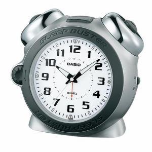 カシオ TQ-645-8JF SLEEP BUSTER 目覚し時計 大音量ベルアラーム(スヌーズ機能) マイクロライト付