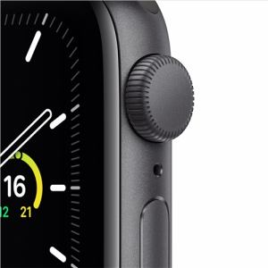 アップル(Apple) MYDP2J/A Apple Watch SE(GPSモデル)- 40mmスペースグレイアルミニウムケースとブラックスポーツバンド