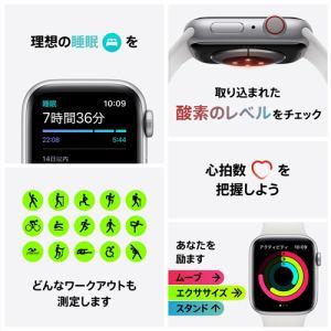 アップル(Apple) M06Q3J/A Apple Watch Series 6(GPS + Cellularモデル)- 40mmブルーアルミニウムケースとディープネイビースポーツバンド