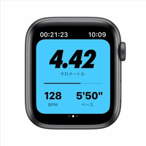 アップル(Apple) MYYK2J/A Apple Watch Nike SE(GPSモデル)- 44mmスペースグレイアルミニウムケースとアンスラサイト/ブラックNikeスポーツバンド