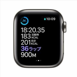 アップル(Apple) M06X3J/A Apple Watch Series 6(GPS + Cellularモデル)- 40mmグラファイトステンレススチールケースとブラックスポーツバンド