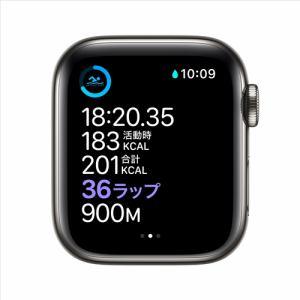 アップル(Apple) M06Y3J/A Apple Watch Series 6(GPS + Cellularモデル)- 40mmグラファイトステンレススチールケースとグラファイトミラネーゼループ