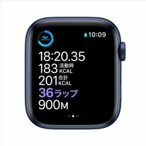 アップル(Apple) M09A3J/A Apple Watch Series 6(GPS + Cellularモデル)- 44mmブルーアルミニウムケースとディープネイビースポーツバンド