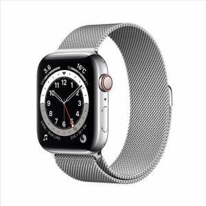 アップル(Apple) M09E3J/A Apple Watch Series 6(GPS + Cellularモデル)- 44mmシルバーステンレススチールケースとシルバーミラネーゼループ