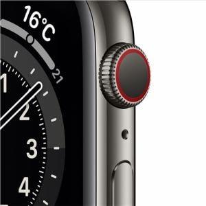 アップル(Apple) M09J3J/A Apple Watch Series 6(GPS + Cellularモデル)- 44mmグラファイトステンレススチールケースとグラファイトミラネーゼループ