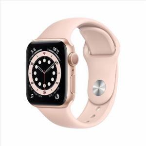 アップル(Apple) MG123J/A Apple Watch Series 6(GPSモデル)- 40mmゴールドアルミニウムケースとピンクサンドスポーツバンド