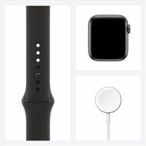 アップル(Apple) MG133J/A Apple Watch Series 6(GPSモデル)- 40mmスペースグレイアルミニウムケースとブラックスポーツバンド
