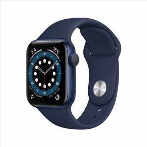 アップル(Apple) MG143J/A Apple Watch Series 6(GPSモデル)- 40mmブルーアルミニウムケースとディープネイビースポーツバンド
