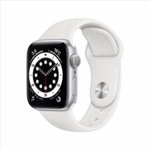 アップル(Apple) MG283J/A Apple Watch Series 6(GPSモデル)- 40mmシルバーアルミニウムケースとホワイトスポーツバンド