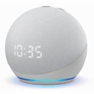 Amazon(アマゾン) B084J4TR39 Echo Dot (エコードット) 第4世代 - 時計付きスマートスピーカー with Alexa グレーシャーホワイト