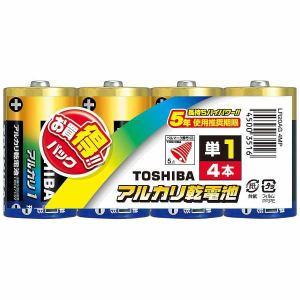 東芝 LR20AG アルカリ電池 アルカリ1(ONE) 単1形 4本