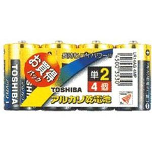 東芝 4MP アルカリ電池 アルカリ1(ONE) 単2形 4本 LR14AG