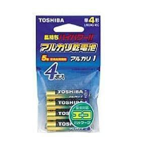 東芝 【単4形】アルカリ乾電池「アルカリ1」(4本入り・エコパッケージ) LR03AG 4EC