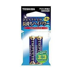 東芝 アルカリ電池 IMPULSE LR03H 2EC