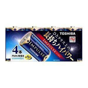 東芝 アルカリ電池 IMPULSE LR20H 4MP