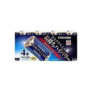 東芝 アルカリ電池 IMPULSE LR14H 4MP