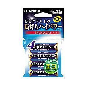 東芝 アルカリ電池 IMPULSE LR6H 4EC