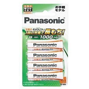 Panasonic 充電式エボルタ単3形 4本パック BK-3LLB/4B
