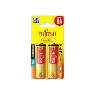 富士通 アルカリ乾電池 ロングライフタイプ (ブリスターパック) 単3形 1.5V 2個パック LR6FL(2B)